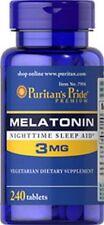 Melatonin 3 mg x 240 Tablets Sleeping Aids Puritan's Pride - From UK