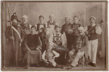 Oversized vintage 1900s CC musicians in strange costumes, circus ball RARE!