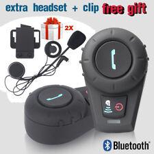 2x FDC BT interphone Bluetooth Motorbike Motorcycle helmet intercom Headset 500M