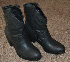 NEW ~ STYLE&CO. Cute, Women Western Low Calf Black Boots / Size 5m / Small Heel