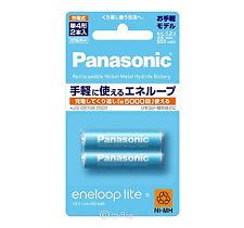 2 Panasonic Eneloop Lite 550mAh AAA Batteries 5000 Times Rechargeable Batteries