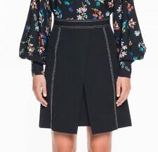 VERONIKA MAINE Stretch Twill Stitched A-Line Skirt - size 10 - BNWT RRP $169