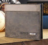 Bifold Men's Leather Wallet ID Business Credit Card Holder Purse Clutch Pockets