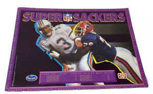 1992 NFL Vtg Super Stackers Poster Marino Smith Ocean Spray Frito Lay Promo NOS