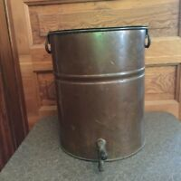 Primitive Antique Large Copper Kettle Steamer Whiskey Still Brew Pot with Spigot