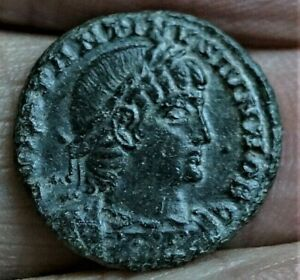 CONSTANTINE II, SOLDIERS-SPEARS-LEGIONS 330-333 AD, 2.5g 17mm Ancient Roman Coin