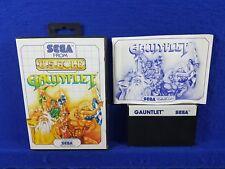 Sega Master System GAUNTLET Game Boxed & Complete Dungeon Crawler PAL UK
