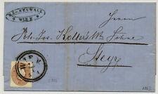 Österreich 1863 10kr, zentriert. Faltbrief von WIEN nach STEYR. Schön!