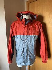 Vintage Nike ACG Storm Fit Rain Jacket Shell Only Mens Large Orange & Gray
