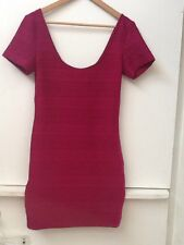 New FOREVER 21 Magenta Fuchsia Pink Short Sleeve Scoop Neck Dress Sz S Small NWT