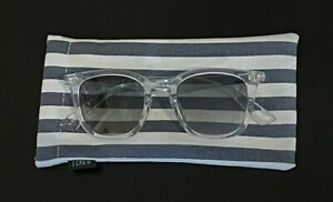 J. Crew Clear Square Frame Sunglasses with Case