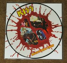 KISS ROCK & ROLL OVER BLOOD SPLATTER PICTURE DISC ARGENTINA COVER #478 / 500
