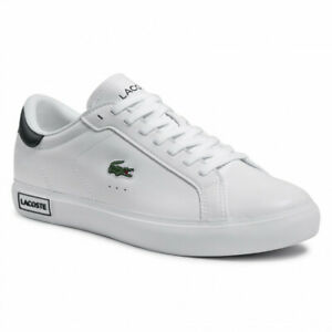 Lacoste Powercourt 0520 1 SMA White Leather Trainers  RRP:£85.00