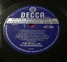 JOHN MAYALL'S BLUESBREAKERS A Hard Road signé par John Mayall Stéréo 1st Presque comme neuf + +