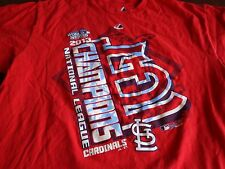 MLB St Louis Cardinals 2013 World Series NL Champs Baseball Red Shirt Large  T7