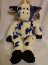 "Za Moo Zany Brainy Moo  Purple Cow Bull 23"" Plush Soft Toy Stuffed Animal"