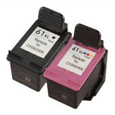 2x Refilled Ink Cartridges forHP 61XL Black CH563W+Color CH564W for Deskjet 1000