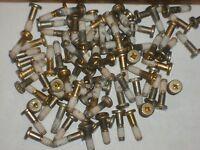 100-1 inch X 1/4 X 20 Phillips WAFER HEAD Shoulder MACHINE SCREWS TEFLON threads