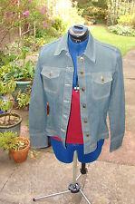 Principles size 12 cotton blend blue fitted denim/ jean style jacket