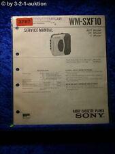Sony Service Manual WM SXF10 Cassette Corder (#3767)