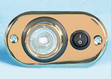 Eyeball berth light, oval brass 12v halogen PO755