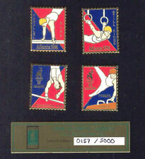 1996 ATLANTA SUMMER OLYMPIC GAMES MENS GYMNASTICS 4 PIN SET IN CASE OF ISSUE