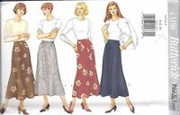4308 UNCUT Butterick Vintage Sewing Pattern Misses Semi Fitted Pull on Skirt OOP