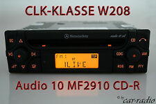 ORIGINALE Mercedes Audio 10 CD mf2910 CD-R CLK CLASSE w208 c208 a208 Autoradio