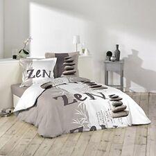 Douceur D'intérieur Galets Zen Parure avec 2 taies D'oreillers coton Multic