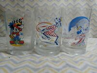 Vintage 2000 McDonald's Walt Disney World Glass Cup Mickey Mouse Lot of 3