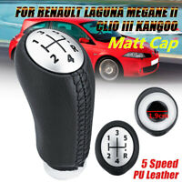 5 MARCE CAMBIO LEVA CAMBIO POMELLO PER RENAULT LAGUNA MEGAE 2 CLIO 3 KANGOO