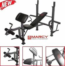 Marcy Standard Workout Weight Bench Press with Butterfly Leg Preacher Curl NEW