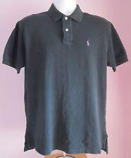 De colección para hombre Ralph Lauren Polo Camisa con Cuello shortsleeved Negro Tamaño Mediano (D54)