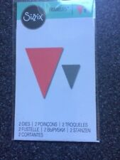 SIZZIX FRAMELITS 2 DIES LITTLE BUNTING TRIANGLES NEW SEALED 661780