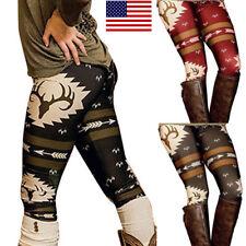 f90026fb4a74d2 Hot US Christmas Deer Print Women Kid Xmas Warm Stretch Pants Long Leggings  Pant