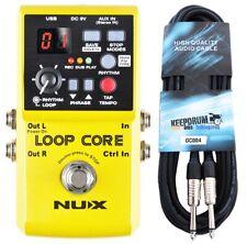 NUX Loop Core Effektgerät Looper Pedal + keepdrum Gitarren-Kabel
