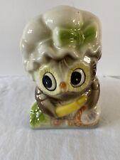 Vintage Retro OWL ceramic Napkin Holder Letter Holder