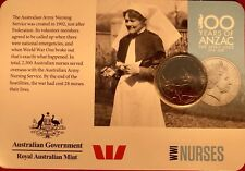 2015 anzacs remembered 20 Cent Australian Coin WW1 NURSES