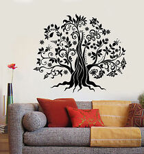 Vinyl Wall Decal Family Tree Flowers Nature Stickers (1337ig)