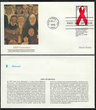 1993 Aids Awareness  Sc 2806 SHEET STAMP SINGLE Fleetwood cachet