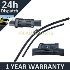 "FOR VW PASSAT MK5 2005-2010 DIRECT FIT FRONT AERO WIPER BLADES PAIR 24"" + 19"""