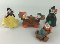 Snow White and The Seven Dwarfs Evil Witch Toy Figures 4pc Lot Disney