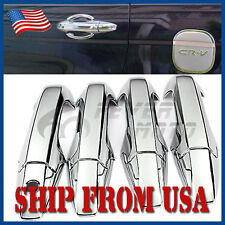 US Chrome Plated ABS Side Door Handle Cover Trim Cap For 2007-2011 Honda CRV FM
