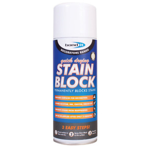 Bond It Stain Block Aerosol 400ml Spray Paint Covers Water Rust And Mould Marks