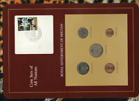 Coin Sets of All Nations Bhutan all 1979 UNC w/card Sports