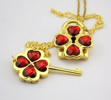 Shugo Chara Red Cosplay Openable Lock & Key Necklace