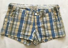 ABERCROMBIE & FITCH Blue Yellow Paid Shorts Size 4