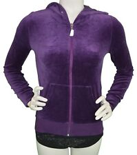 Juicy Couture Aubergine Track Velour Crystal Jacket Women's XS New with Tags