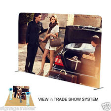 10ft Straight Fabric Tension Backwall Pop Up Display Trade Show Booth 2 Sided