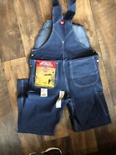 Dickies Mens Bib Overalls 83294NB Denim Indigo Rinse Blue Authentic Work 38x32